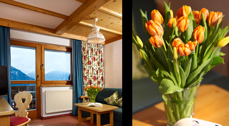 Doppelzimmer Deluxe Alpenhotel Linserhof Imst Tirol