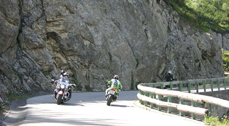 Motorradfahren Hahntenjochstrasse