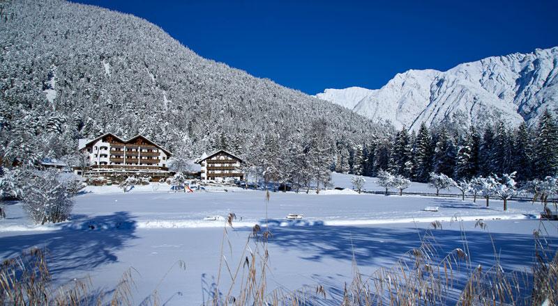 Winterpanorama Alpenhotel Linserhof Imst Tirol