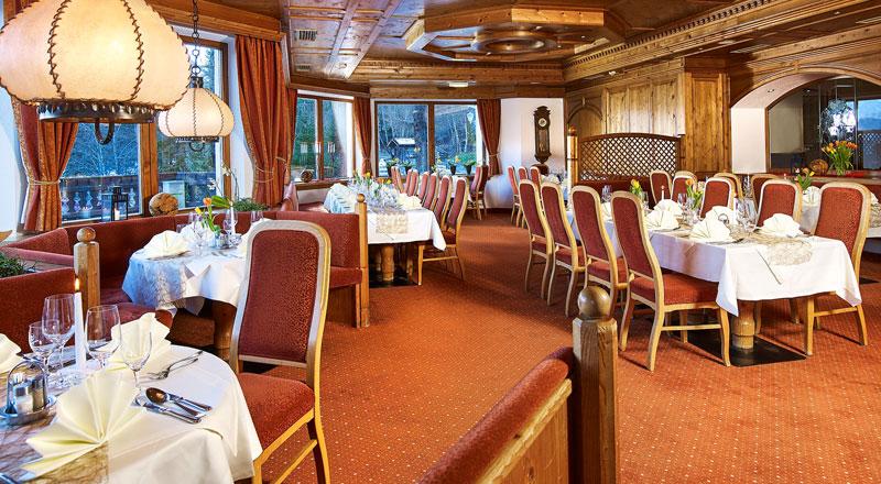 Speisesaal Hotel Linserhof Imst