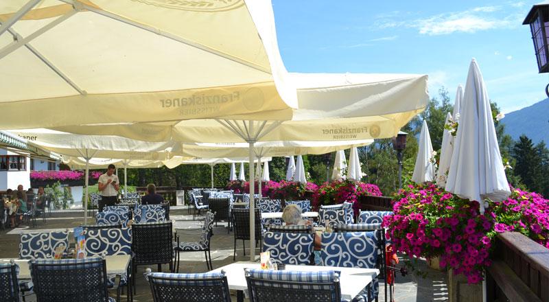 Terrasse Alpenhotel Linserhof Imst Tirol